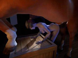 3D Dog porn Lesbians
